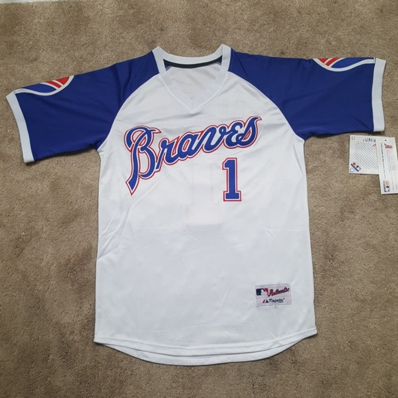 online retailer 72f21 0ea56 Ozzie Albies Braves Throwback Jersey New Mens NWT